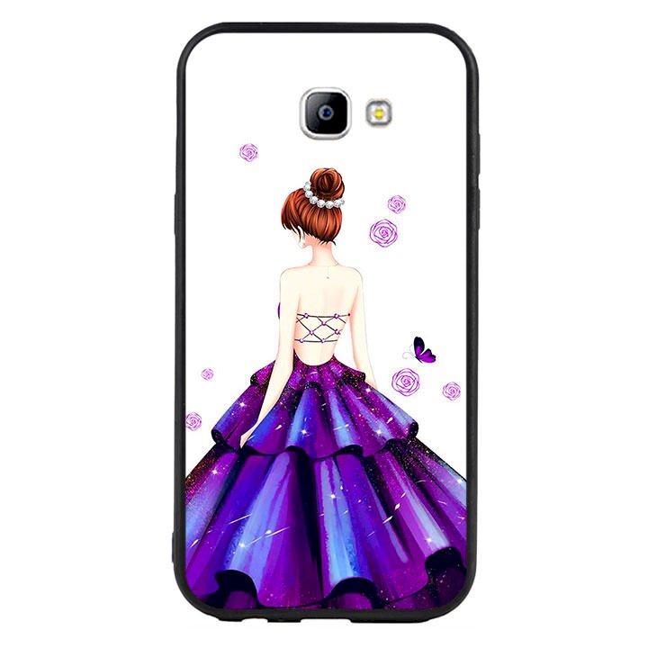 Ốp lưng viền TPU cho điện thoại Samsung Galaxy A7 2017 - Girl 06