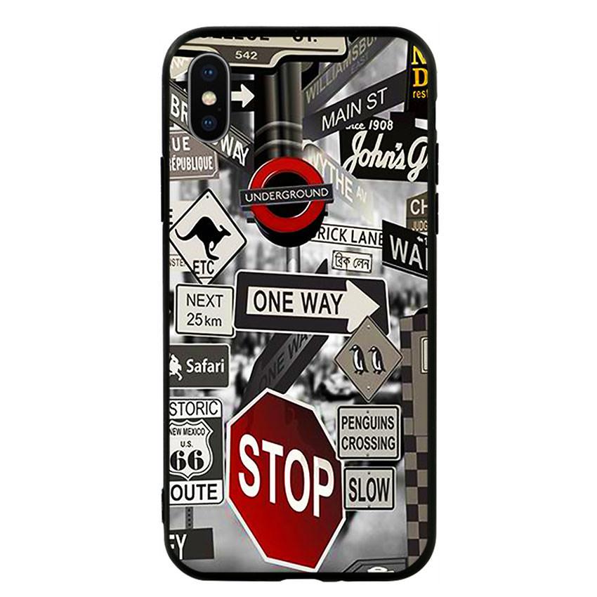 Ốp lưng viền TPU cho điện thoại Iphone X -Street 01