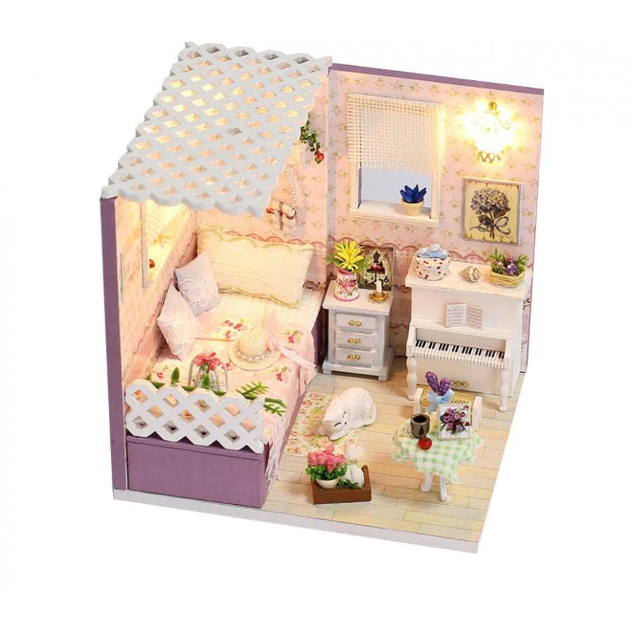 Nhà gỗ búp bê Cute Room -  Góc phòng ngủ của cô nàng lãng mạn với mèo trắng và piano trắng tinh khôi - 985367 , 5387169393194 , 62_2565317 , 350000 , Nha-go-bup-be-Cute-Room-Goc-phong-ngu-cua-co-nang-lang-man-voi-meo-trang-va-piano-trang-tinh-khoi-62_2565317 , tiki.vn , Nhà gỗ búp bê Cute Room -  Góc phòng ngủ của cô nàng lãng mạn với mèo trắng và piano tr