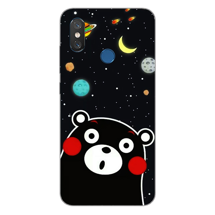 Ốp lưng dẻo Nettacase cho điện thoại Xiaomi Mi 8_0345 BEAR03 - Hàng Chính Hãng
