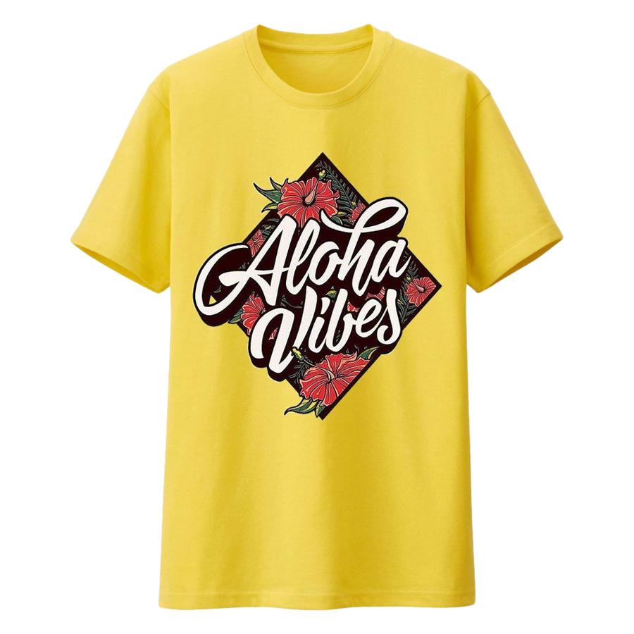 Áo T-shirt Dành Cho Bé DOTILO Vàng ALOHA - den017b