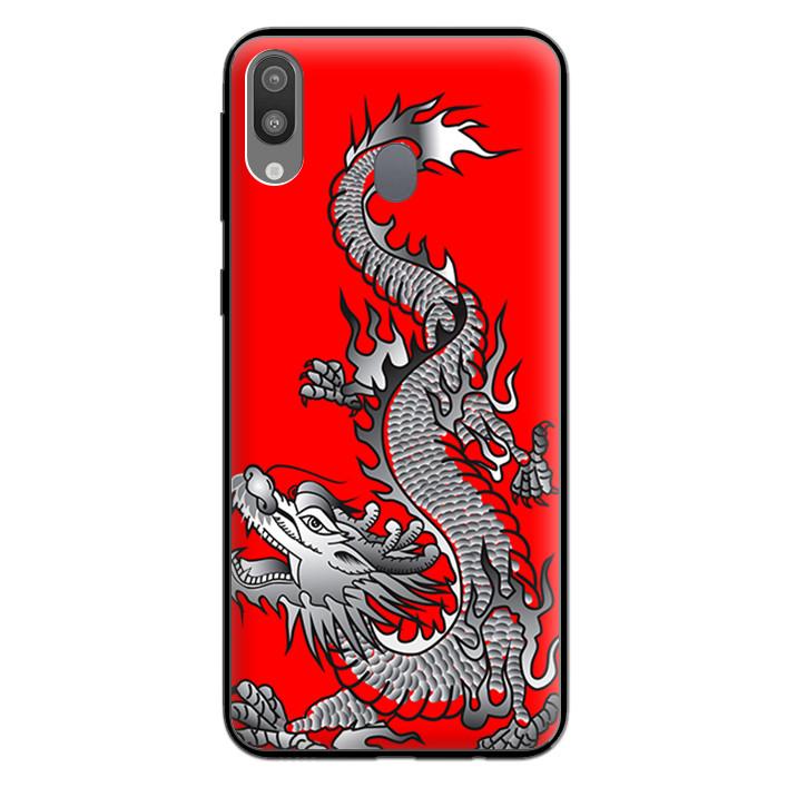 Ốp Lưng Viền TPU cho điện thoại cho điện thoại Samsung Galaxy M20 - 0295 DRAGON03 - Hàng Chính Hãng