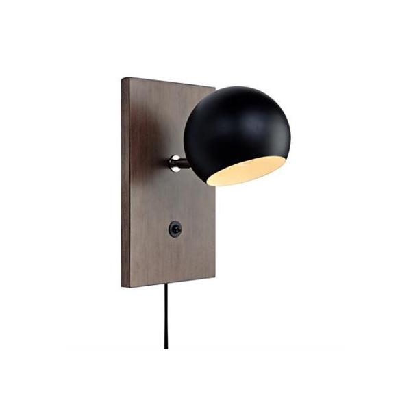 Đèn sàn Markslojd FLETCHER Wall 1L Walnut/Black - Hàng Chính Hãng