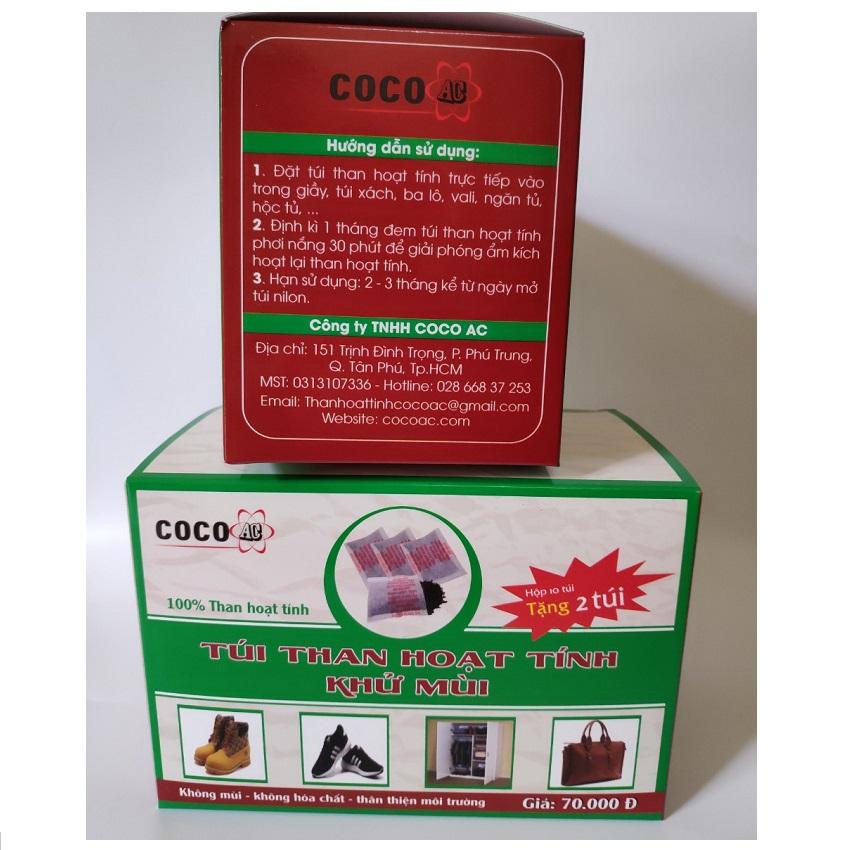 Combo 2 hộp túi than hoạt tính khử mùi Coco AC