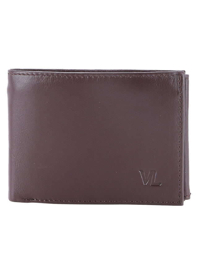 Ví Da Nam VL Leather VL0026 (12 x 10 cm) - Nâu