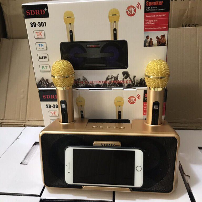 Loa Karaoke Bluetooth SDRD - SD301 Hàng Chính hãng - Tặng 2 Mic Không Dây Siêu Hay - 2337683 , 1529525137040 , 62_15197983 , 1790000 , Loa-Karaoke-Bluetooth-SDRD-SD301-Hang-Chinh-hang-Tang-2-Mic-Khong-Day-Sieu-Hay-62_15197983 , tiki.vn , Loa Karaoke Bluetooth SDRD - SD301 Hàng Chính hãng - Tặng 2 Mic Không Dây Siêu Hay