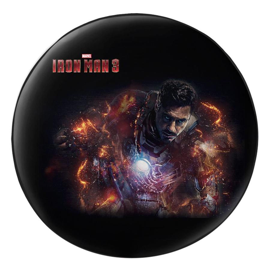 Gối Ôm Tròn In Hình Iron Man 3 - GOFF285