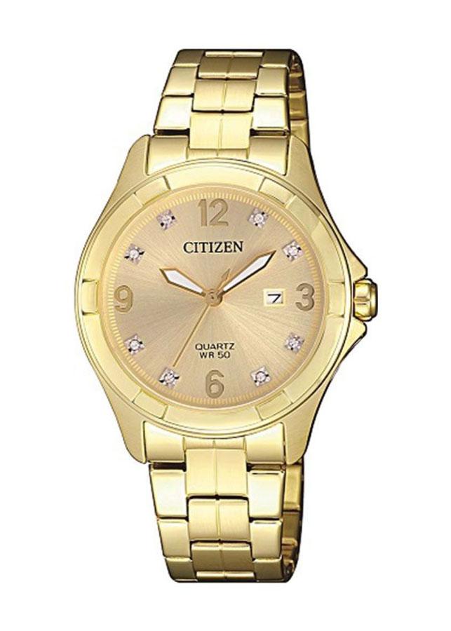 Đồng Hồ Nữ Dây Kim Loại Citizen EU6082-52P - Vàng