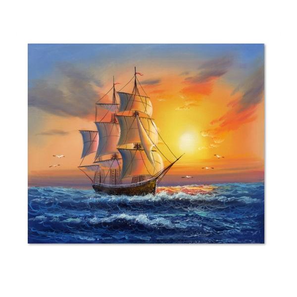 Tranh treo tường thuyền buồm LunaCV-0045