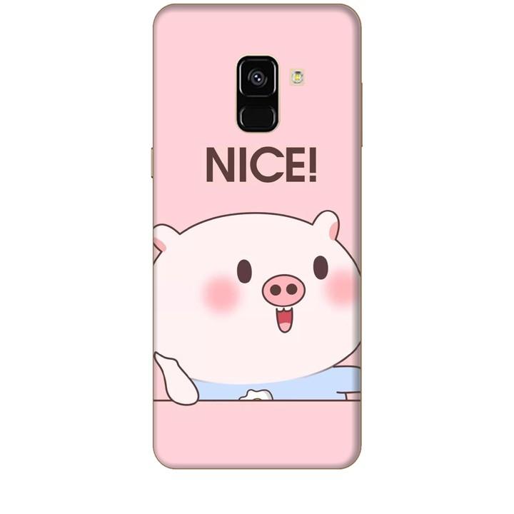 Ốp lưng dành cho điện thoại  SAMSUNG GALAXY A8 2018 Heo Con Xinh xắn
