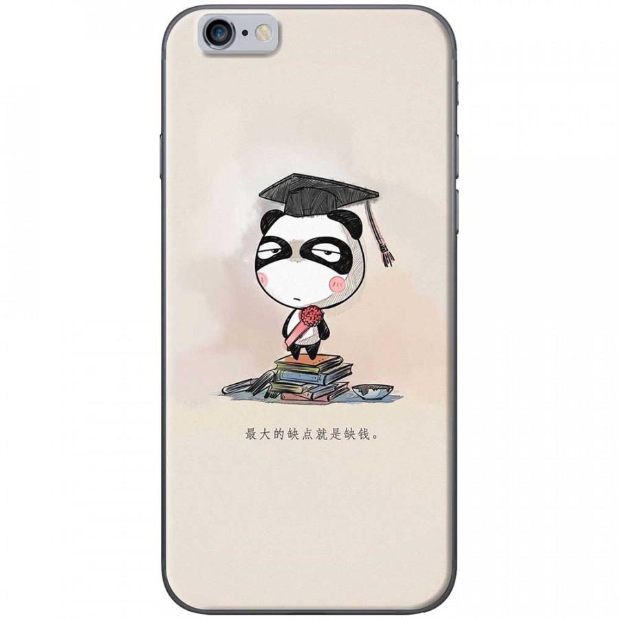 Ốp lưng dành cho iPhone 6 Plus, iPhone 6S Plus mẫu Panda mọt sách