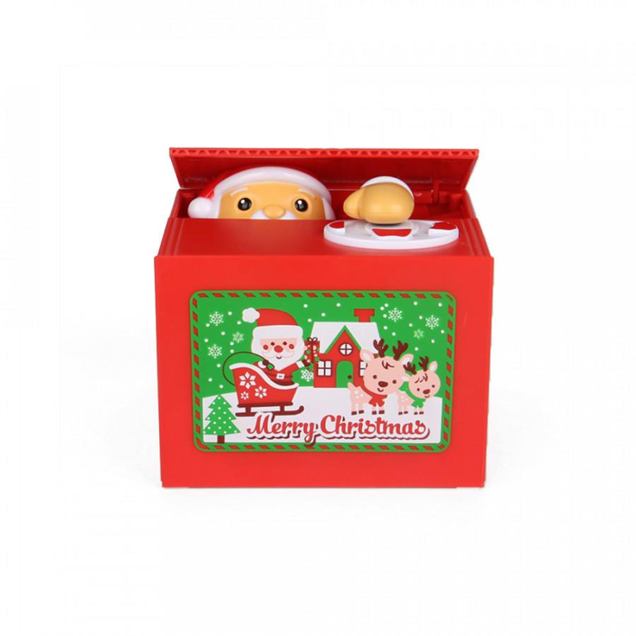 Steal Money Santa Claus Electronic Piggy Bank Coin Grabing Eating Money Saving Box Desk Toy Christmas Gift