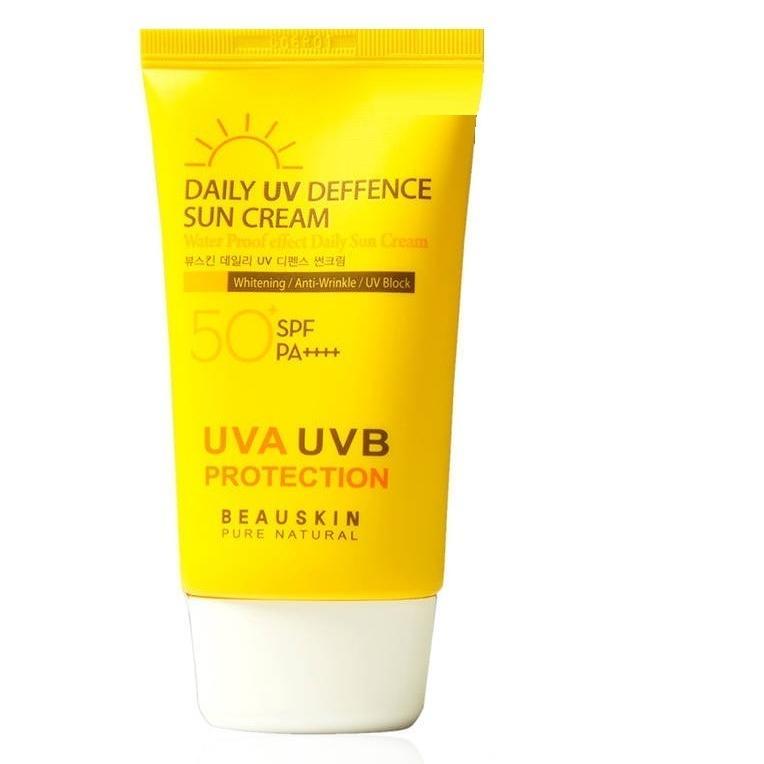 Kem chống nắng không nhờn không bết dính tác dụng 8h SPF 50 PA+++ Beauskin Hàn quốc ( 50ml)