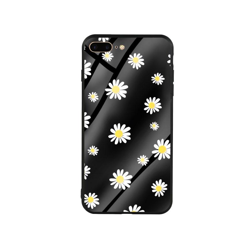 Ốp Lưng Kính Cường Lực cho điện thoại Iphone 7 Plus / 8 Plus - Cúc Họa Mi 01 - Hàng Chính Hãng