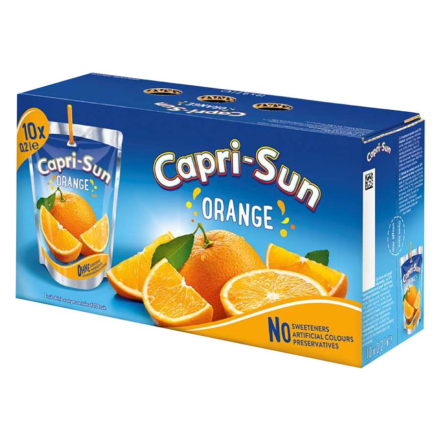Thùng Nước Trái Cây Capri Sun Vị Cam (200ml x 10)