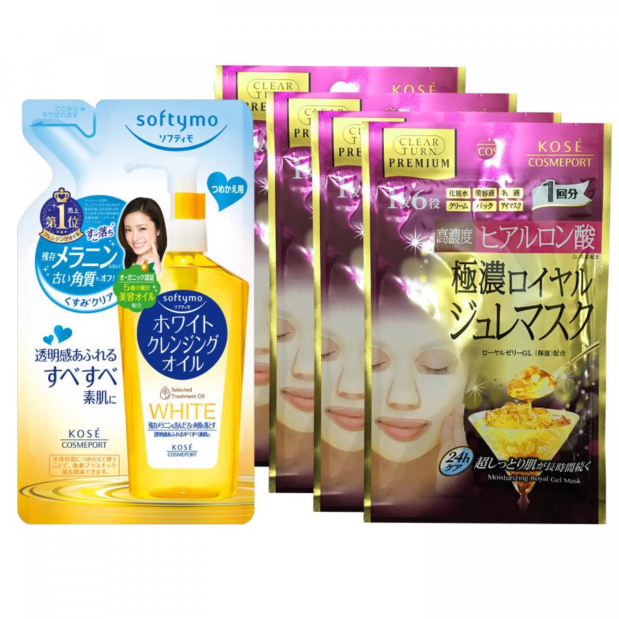 Bộ mỹ phẩm Kosé Cosmeport: Refill Dầu tẩy trang sạch tế bào chết 200ml + Refill 4 miếng mặt nạ sữa ong chúa đa năng... - 754214 , 8493194127530 , 62_7823255 , 560000 , Bo-my-pham-Kose-Cosmeport-Refill-Dau-tay-trang-sach-te-bao-chet-200ml-Refill-4-mieng-mat-na-sua-ong-chua-da-nang...-62_7823255 , tiki.vn , Bộ mỹ phẩm Kosé Cosmeport: Refill Dầu tẩy trang sạch tế bào chết 200m