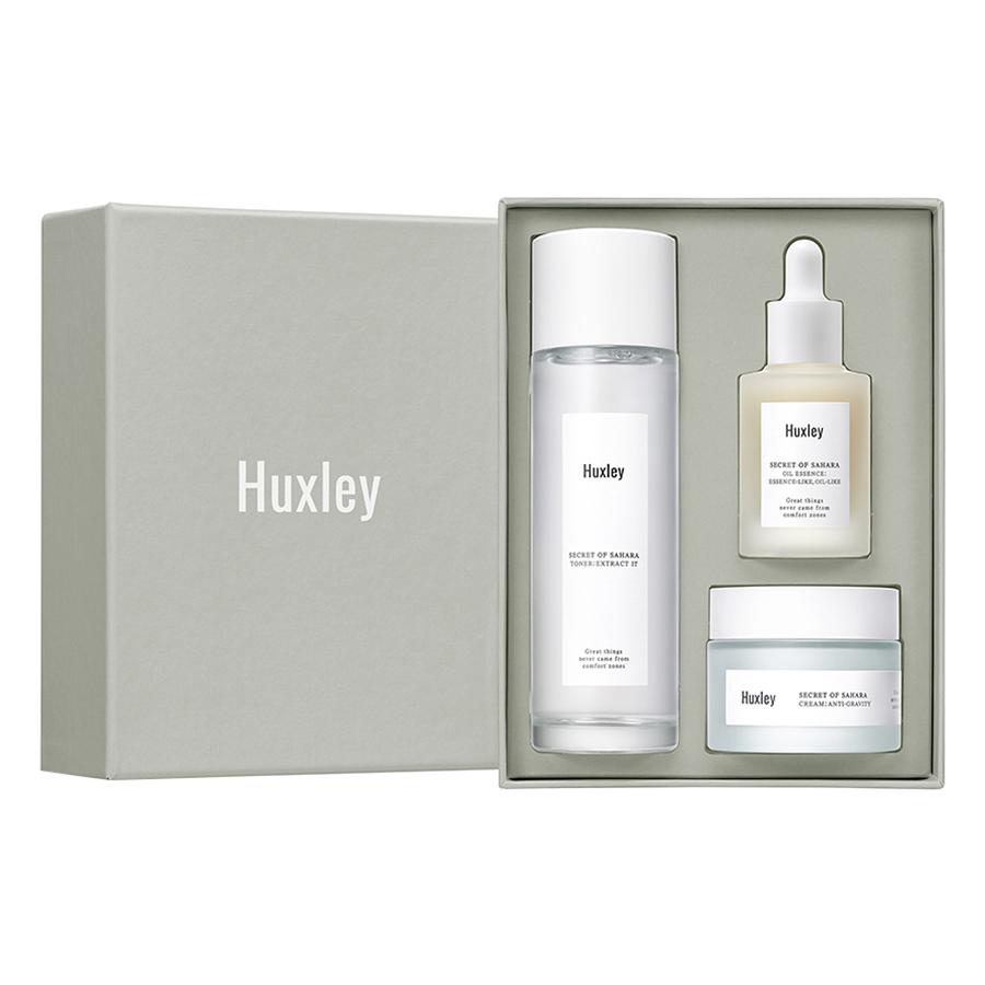 Bộ sản phẩm phục hồi da chống lão hoá Huxley Antioxidant Trio (Extract It, Essence Like, Anti-Gravity)