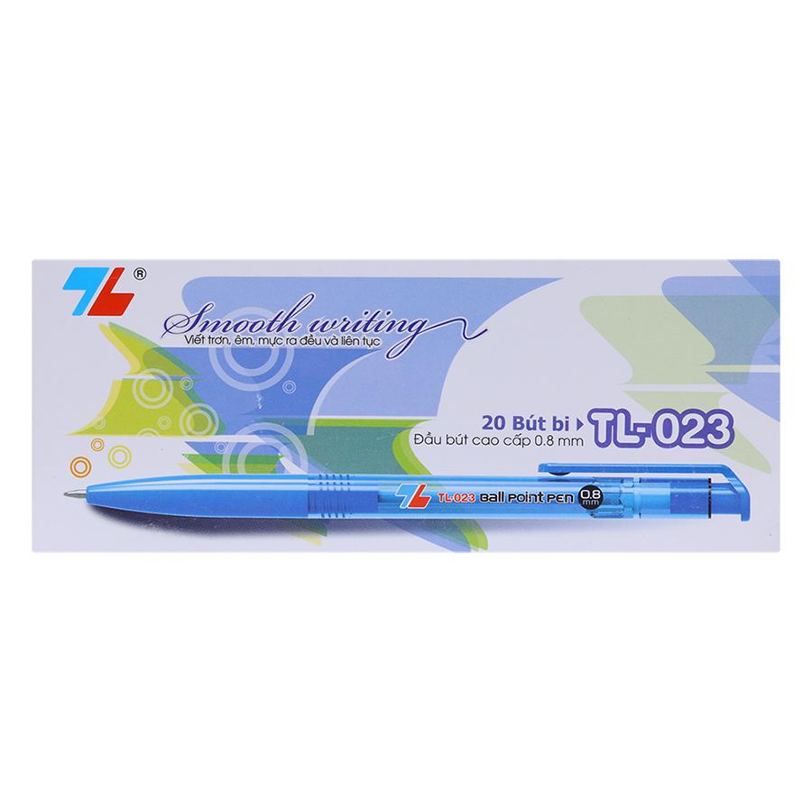 Hộp 20 Bút Bi Thiên Long TL-023 - Xanh