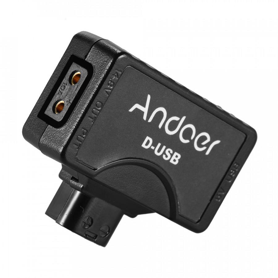 Đầu Nối Chuyển Đổi USB Andoer D-Tap To 5V Cho Máy Quay V-Mount