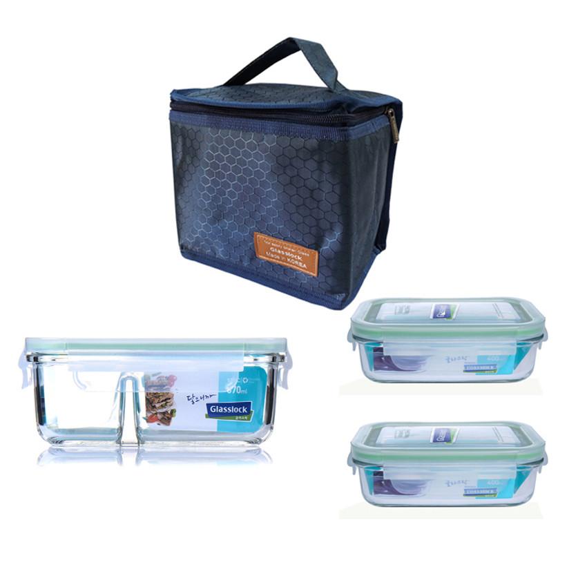 Bộ hộp cơm thủy tinh chịu lực Glasslock (2x400ml + 670ml chia ngăn) Kèm túi giữ nhiệt - 983577 , 5468685735498 , 62_2535399 , 499000 , Bo-hop-com-thuy-tinh-chiu-luc-Glasslock-2x400ml-670ml-chia-ngan-Kem-tui-giu-nhiet-62_2535399 , tiki.vn , Bộ hộp cơm thủy tinh chịu lực Glasslock (2x400ml + 670ml chia ngăn) Kèm túi giữ nhiệt