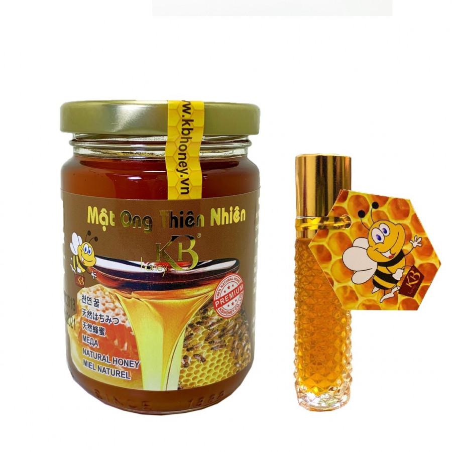 Mật ong rừng thiên nhiên nguyên chất KB 200ml + tặng thỏi mật ong dưỡng môi KB 10ml