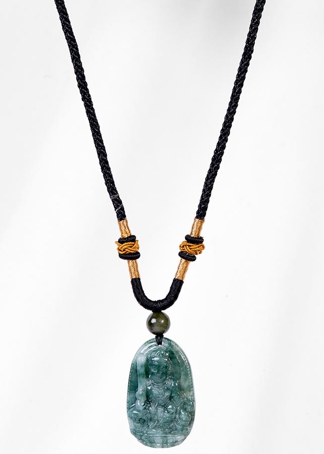 Mặt Dây Chuyền Phật Bản Mệnh Tuổi Mão Văn Thù Bồ Tát Đá Cẩm Thạch Nước Ngọc Ngọc Quý Gemstones