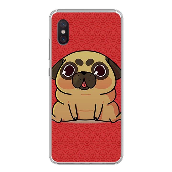 Ốp lưng cho Xiaomi Mi 8 Pro - 0315 CUTEDOG02 - Silicone dẻo - Hàng Chính Hãng