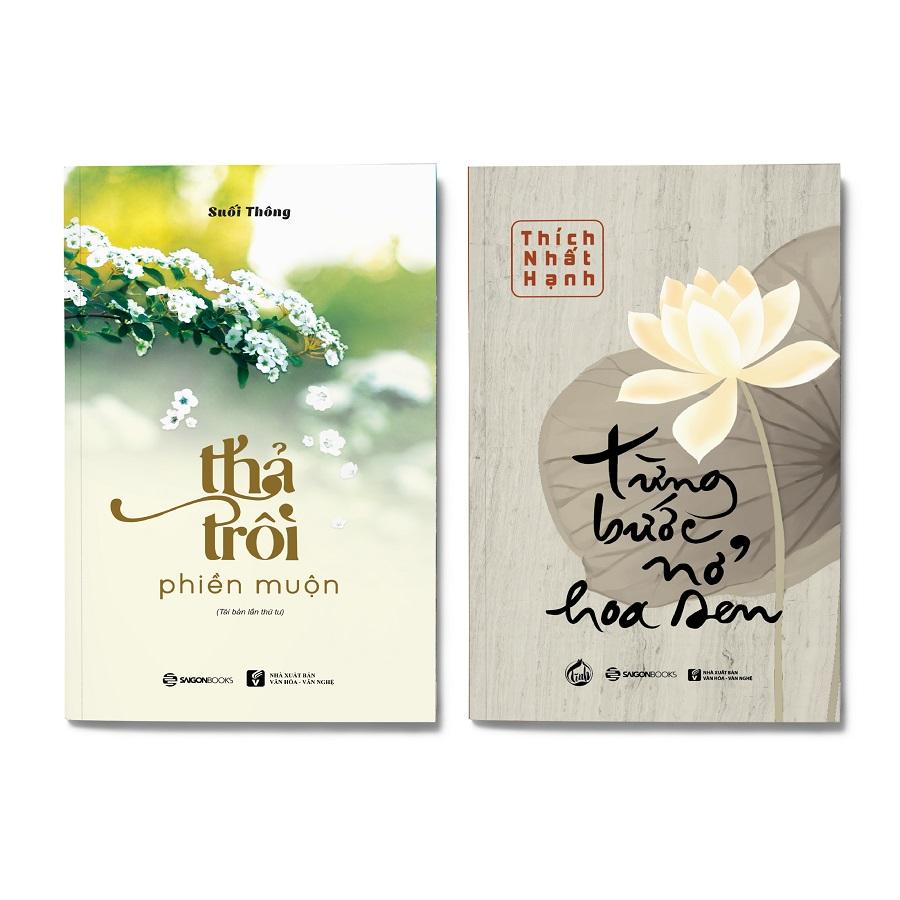 Combo 2 cuốn: Từng Bước Nở Hoa Sen + Thả Trôi Phiền Muộn (Tái Bản 2019) - 1857307 , 4018278320498 , 62_14050060 , 158000 , Combo-2-cuon-Tung-Buoc-No-Hoa-Sen-Tha-Troi-Phien-Muon-Tai-Ban-2019-62_14050060 , tiki.vn , Combo 2 cuốn: Từng Bước Nở Hoa Sen + Thả Trôi Phiền Muộn (Tái Bản 2019)