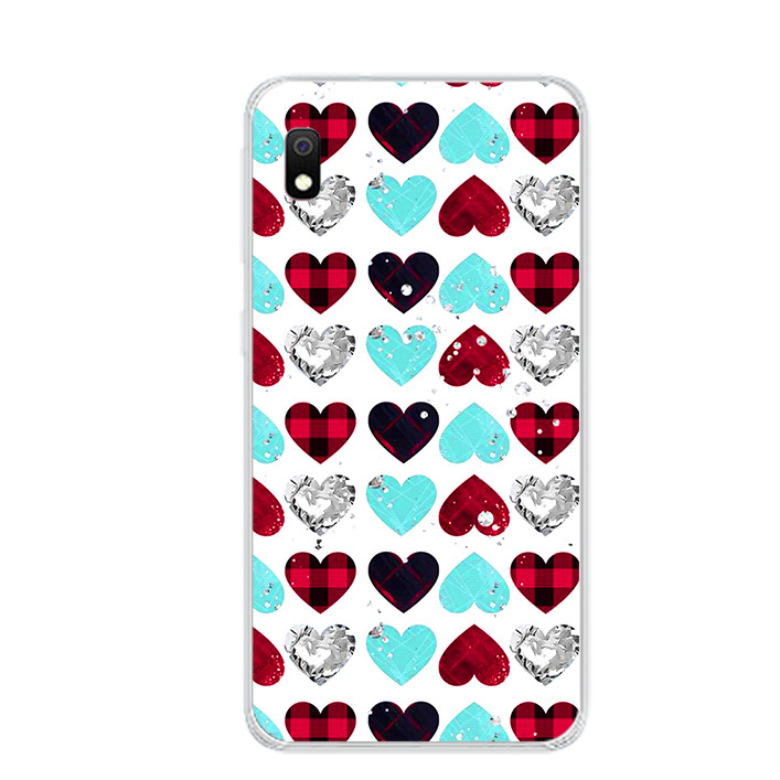 Ốp lưng dẻo cho điện thoại Samsung Galaxy A10 - 0099 HEART07 - Hàng Chính Hãng