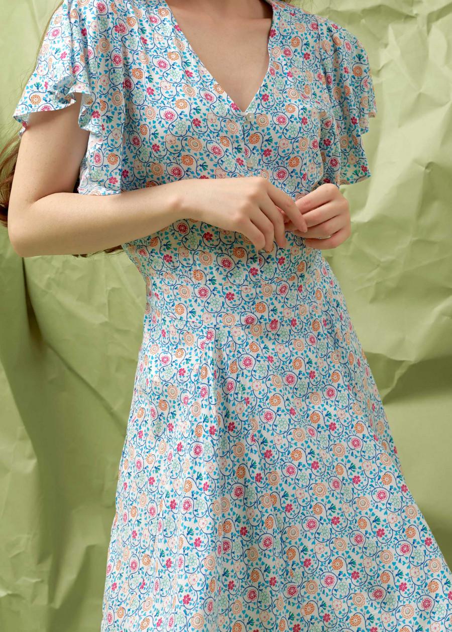 Đầm nữ The Cosmo kylie dress màu trắng TC2005208WH