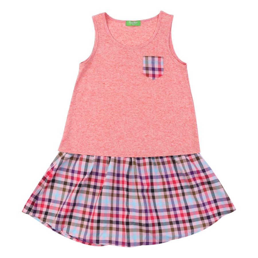 Bộ Áo Thun Kèm Váy Genii Kids - Hồng