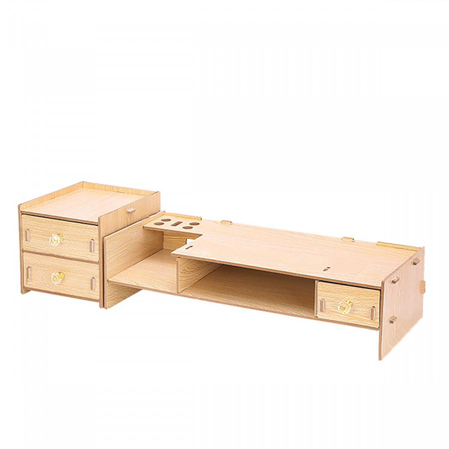 Kệ để màn hình máy tính gỗ lắp ghép 2 tầng, có ngăn tủ phụ RE0066 - 1616720 , 1876030482746 , 62_11202421 , 650000 , Ke-de-man-hinh-may-tinh-go-lap-ghep-2-tang-co-ngan-tu-phu-RE0066-62_11202421 , tiki.vn , Kệ để màn hình máy tính gỗ lắp ghép 2 tầng, có ngăn tủ phụ RE0066