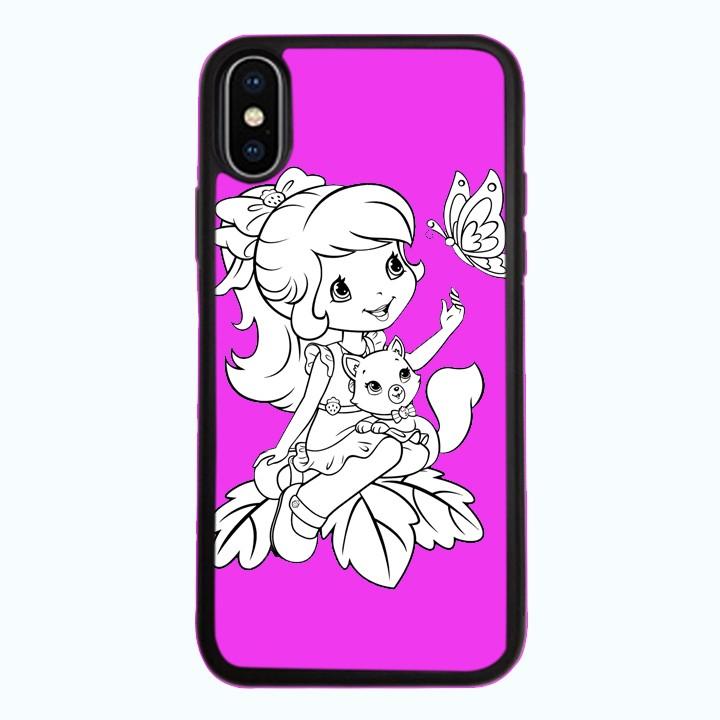 Ốp Lưng Kính Cường Lực Dành Cho Điện Thoại iPhone X Baby Strawberry Mẫu 9