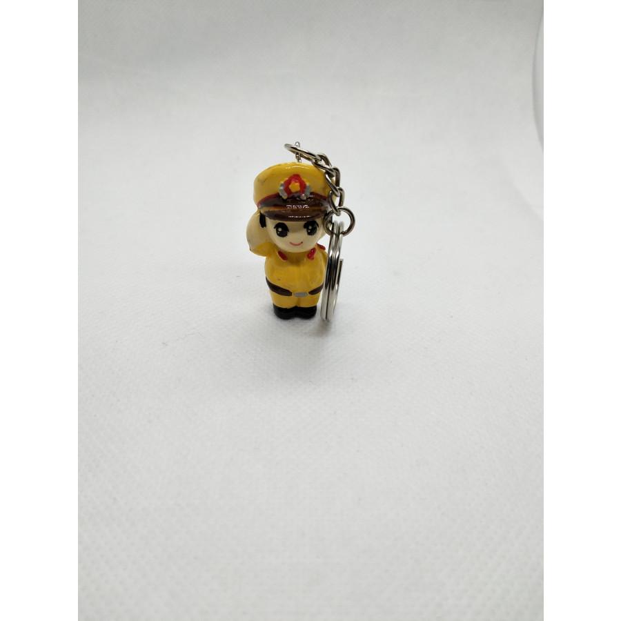 Móc Khóa Chibi 3D Thạch Cao - Nam CSGT