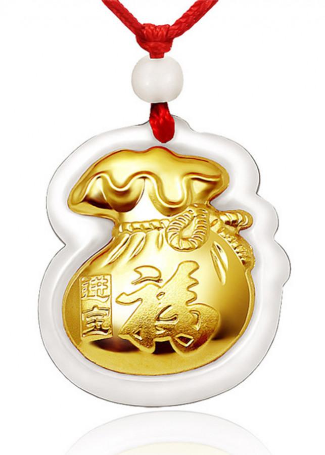 Mặt dây Phỉ thúy dát vàng 24K Bao Đựng Tiền Ancarat