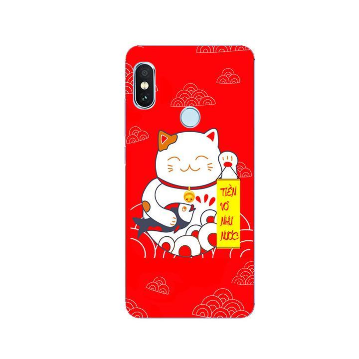 Ốp Lưng Dẻo Cho Điện thoại Xiaomi Redmi Note 5 - Mèo May Mắn 01