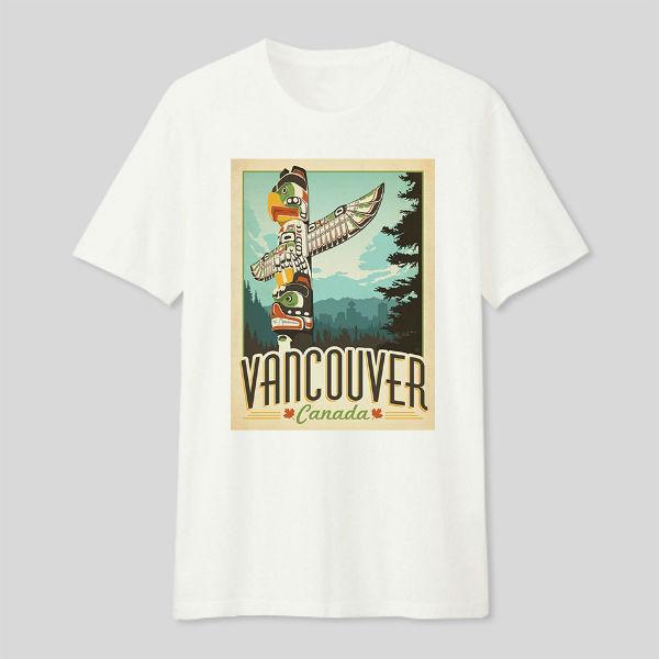 Áo T-shirt Trẻ Em Vancouver Dotilo HT119 - Trắng