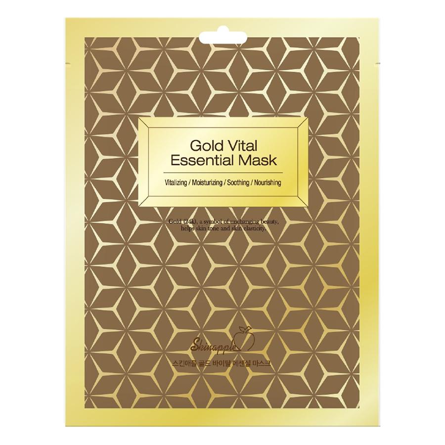 Mặt Nạ Skinapple Nâng Cơ  Thải Độc Tinh Chất Vàng 24K (10 Miếng/Hộp)