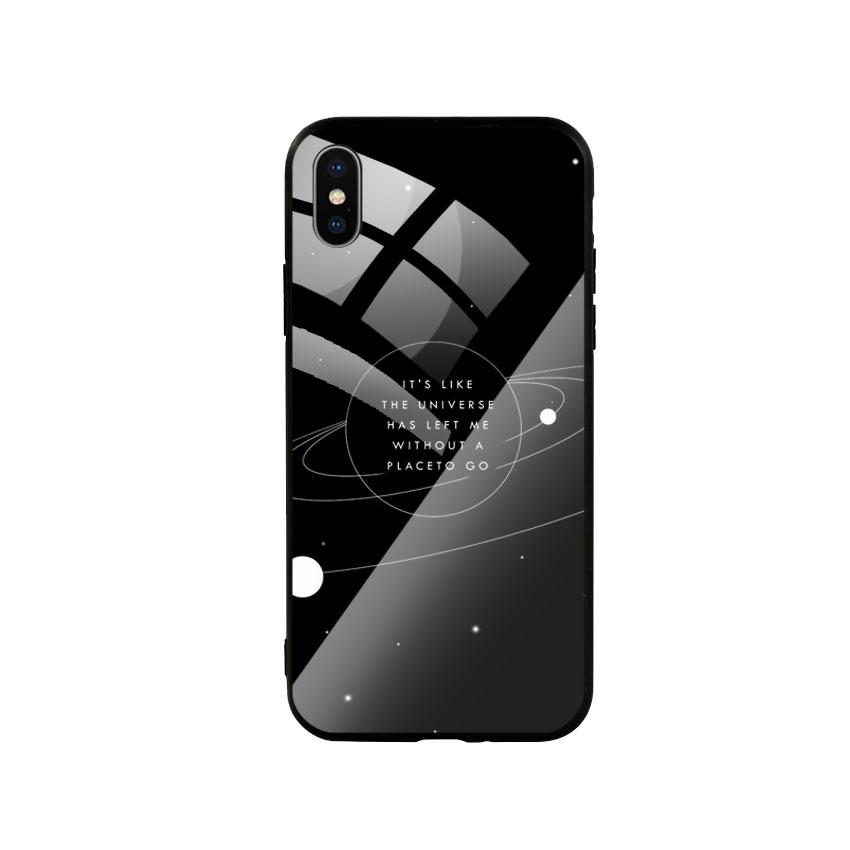 Ốp Lưng Kính Cường Lực cho điện thoại Iphone X / Xs - Alone 02