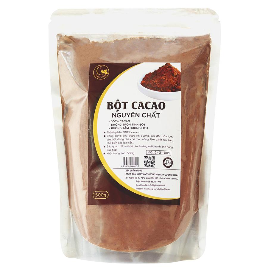 Bột Ca Cao Nguyên Chất 100% Light Cacao (500g)