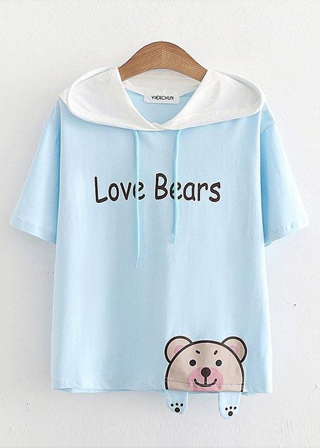 Áo Thun Hoodie Nữ Love Bears 848