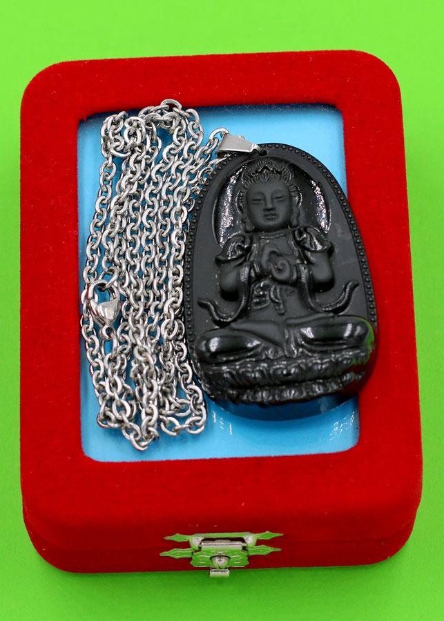 Vòng cổ Đại Nhật như lai thạch anh đen 4.3 cm - Phật bản mệnh tuổi Mùi, Thân - Đem lại bình an, may mắn cho người... - 2165424 , 9707432609832 , 62_13866645 , 420000 , Vong-co-Dai-Nhat-nhu-lai-thach-anh-den-4.3-cm-Phat-ban-menh-tuoi-Mui-Than-Dem-lai-binh-an-may-man-cho-nguoi...-62_13866645 , tiki.vn , Vòng cổ Đại Nhật như lai thạch anh đen 4.3 cm - Phật bản mệnh tuổi