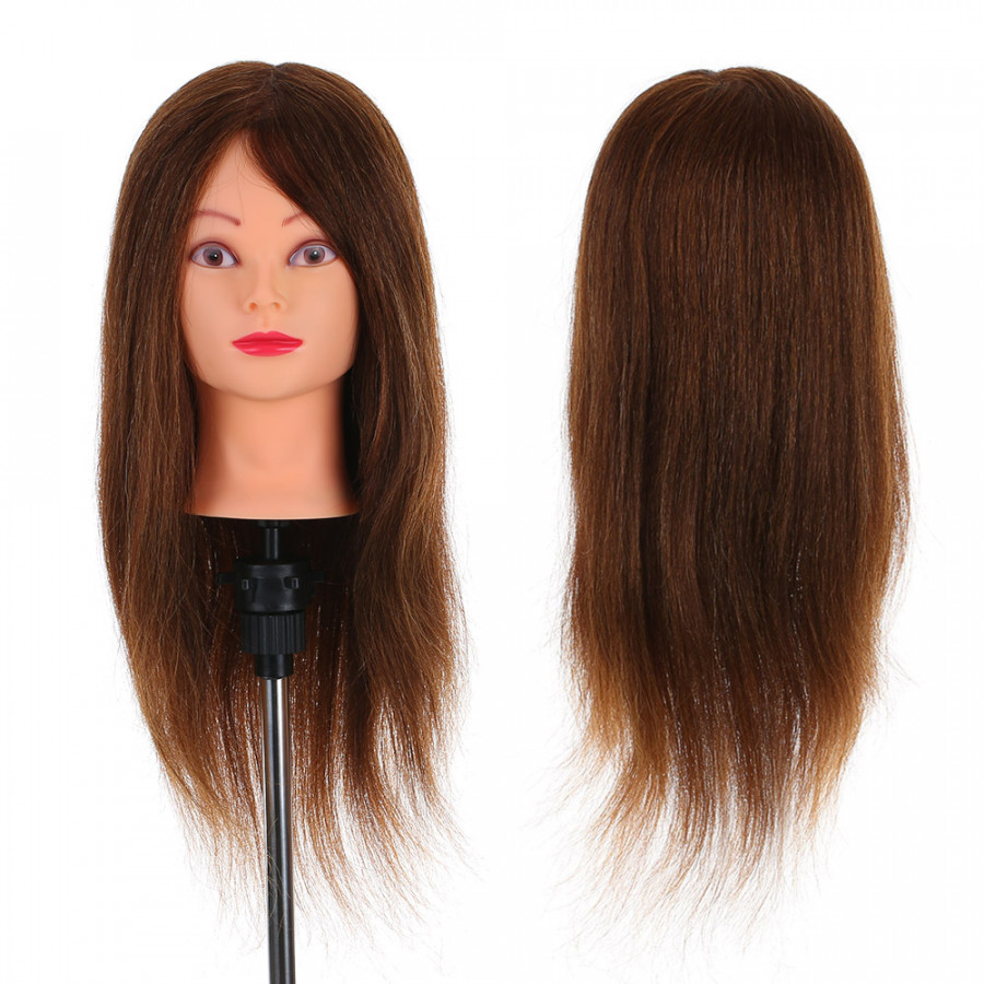 """24"""" 100% Real Human Hair Mannequin Head Hairdressing Training Head Cosmetology Doll Head With Table Clamp Stand - 803990 , 4061638786250 , 62_14155248 , 908000 , 24-100Phan-Tram-Real-Human-Hair-Mannequin-Head-Hairdressing-Training-Head-Cosmetology-Doll-Head-With-Table-Clamp-Stand-62_14155248 , tiki.vn , 24"""" 100% Real Human Hair Mannequin Head Hairdressing Traini"""