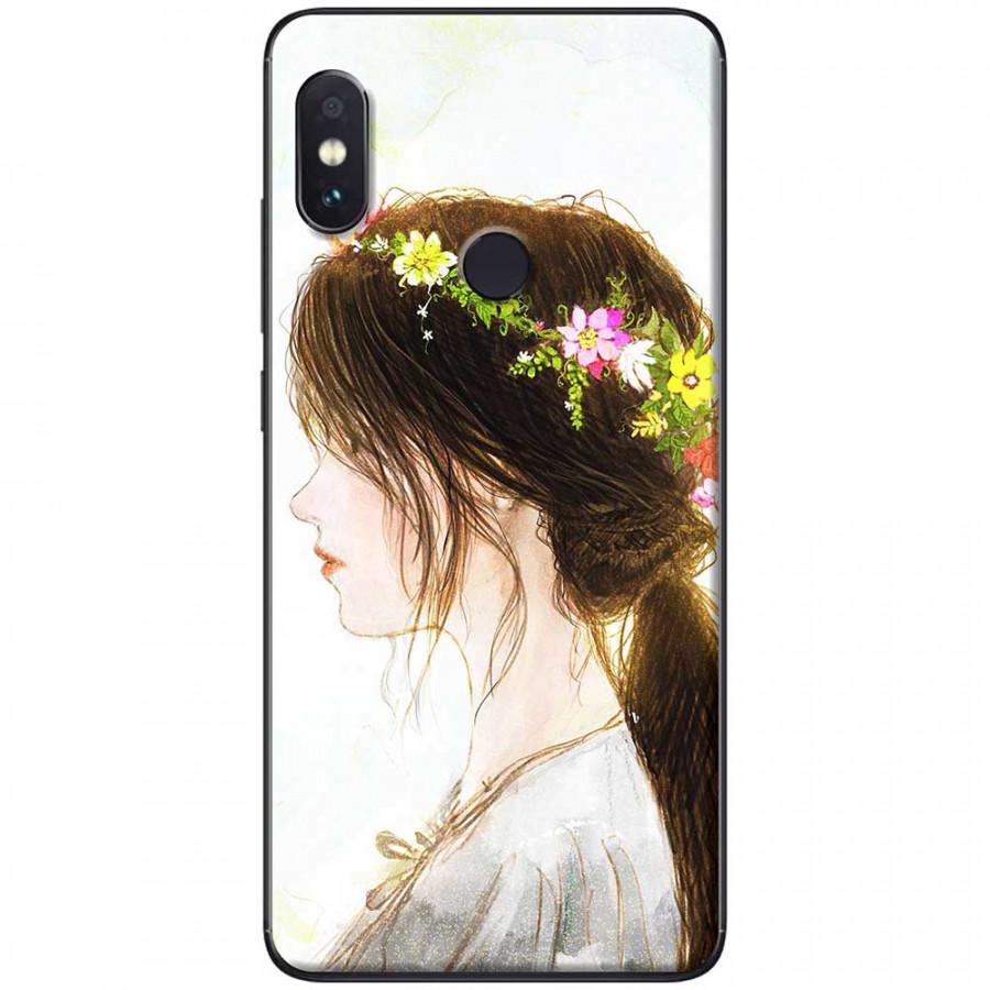 Ốp lưng dành cho Xiaomi Redmi Note 6 mẫu Vòng hoa trên tóc