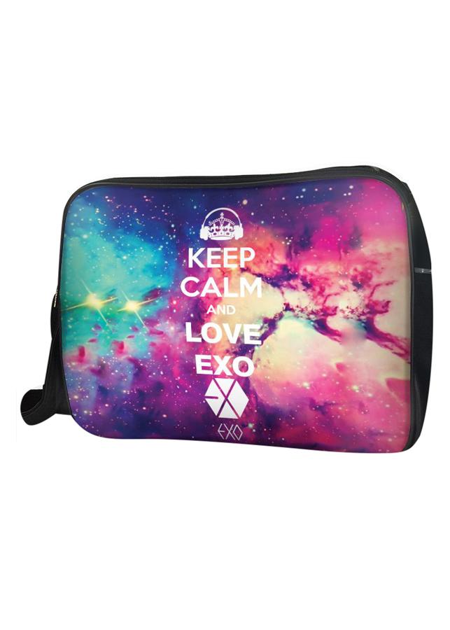 Túi Đeo Chéo Hộp Unisex Keep Calm And Love Exo - TCKK039
