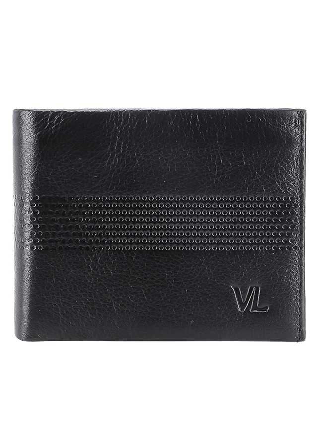 Ví Da Nam VL Leather VL0029 (12 x 10 cm) - Đen