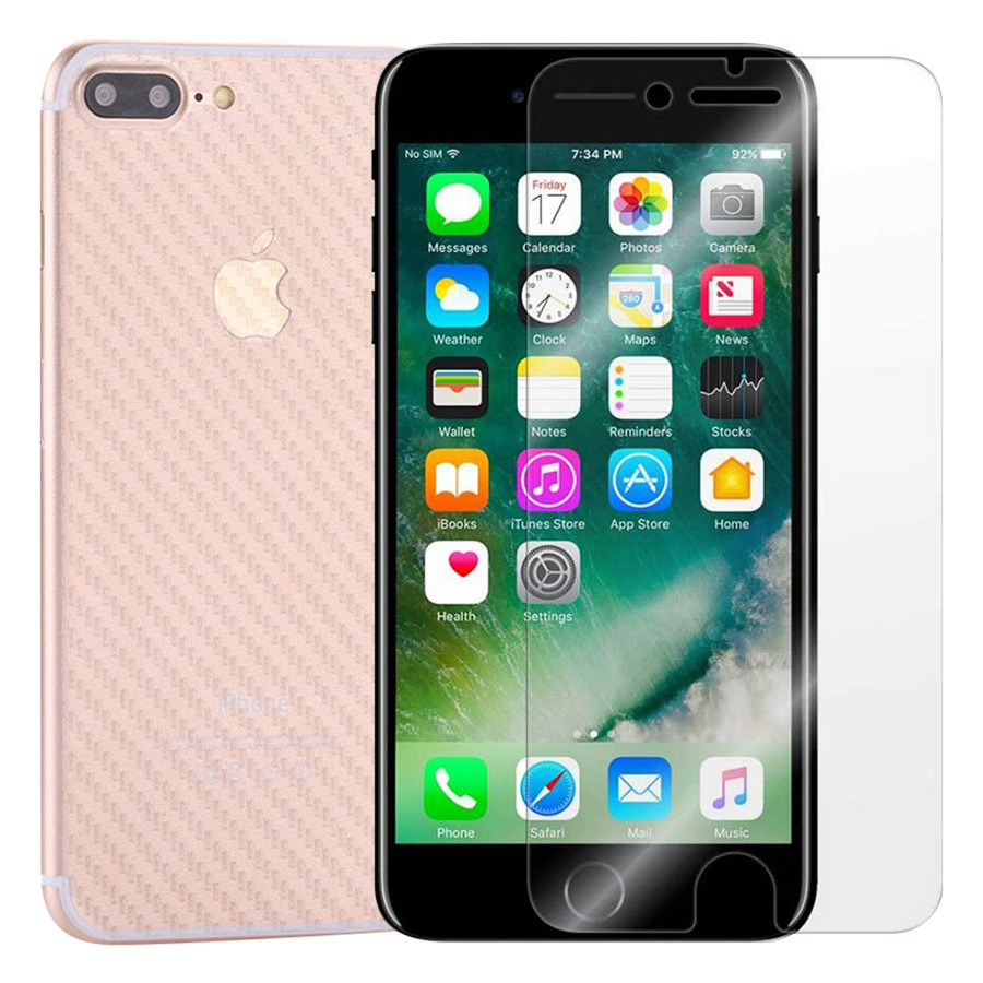 Bộ Kính Cường Lực iPhone 7 Plus / 8 Plus Remax (Trong Suốt) Và Miếng Dán Mặt Sau Vân Carbon (Trong suốt) - Hàng Chính Hãng - 1530823 , 7395561295525 , 62_11276188 , 80000 , Bo-Kinh-Cuong-Luc-iPhone-7-Plus--8-Plus-Remax-Trong-Suot-Va-Mieng-Dan-Mat-Sau-Van-Carbon-Trong-suot-Hang-Chinh-Hang-62_11276188 , tiki.vn , Bộ Kính Cường Lực iPhone 7 Plus / 8 Plus Remax (Trong Suốt) Và