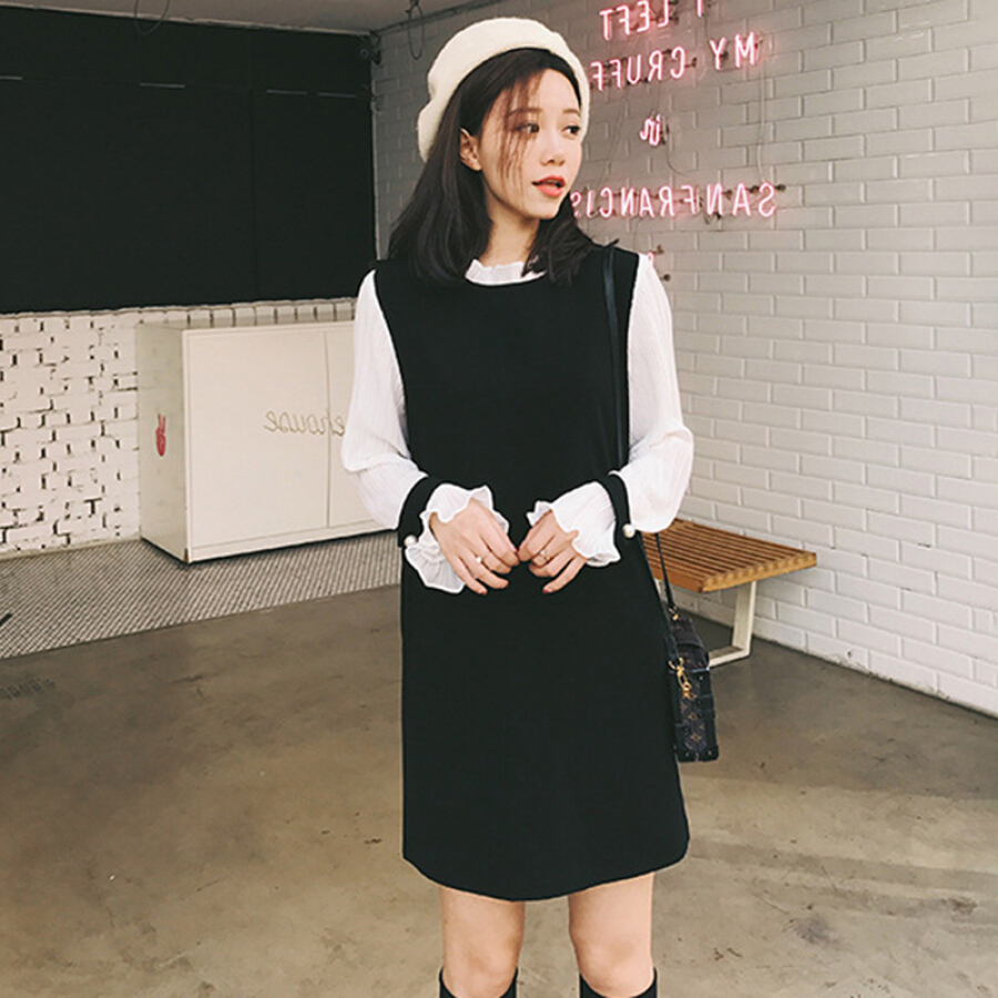 Đầm Suông Tay Dài Nữ Long Yue LWQZ181304