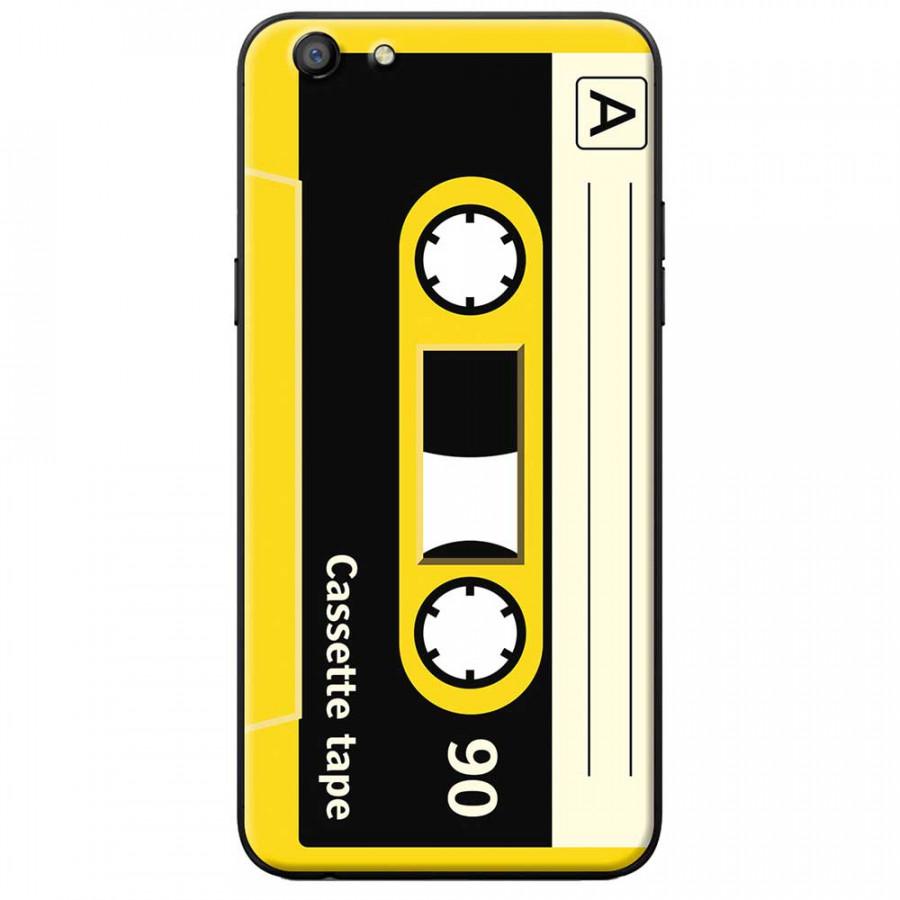 Ốp lưng dành cho Oppo A83 mẫu Cassette vàng