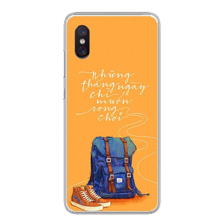 Ốp lưng cho Xiaomi Mi 8 Pro - 0215 NGAYTHANGRONGCHOI - Silicone dẻo - Hàng Chính Hãng